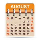 Augusti kalender av 2018 år - stock illustrationer