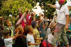 13 Augusti 2016 Kozelsk Ryssland Dag av staden Royaltyfri Bild