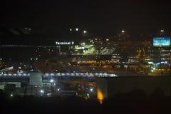 28 augusti Narita flygplats 2016 på natten terminal 2 Narita Tokyo Fotografering för Bildbyråer
