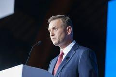 29 Augusti 2017, RYSSLAND, MOSKVA: Ledare av den ryska oppositionen Alexei Navalny Fotografering för Bildbyråer