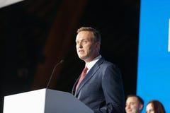 29 Augusti 2017, RYSSLAND, MOSKVA: Ledare av den ryska oppositionen Alexei Navalny Royaltyfri Fotografi