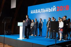 29 Augusti 2017, RYSSLAND, MOSKVA: Ledare av den ryska oppositionen Alexei Navalny Royaltyfria Bilder