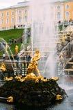 05 Augusti, 2016, St Petersburg, Ryssland - Samson Fountain Arkivbilder