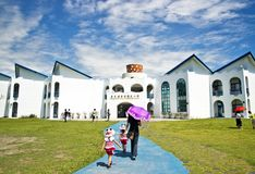 Augusti 7, 2016, Taitung Conunty Fong Yuan Elementary School royaltyfria foton