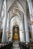 Augustine church interior, Vienna, Austria. Interior of Augustinian church, roman catholic parish church and part of Hofburg Palace in Vienna, Austria Royalty Free Stock Images