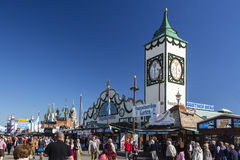 Augustiner tent at Oktoberfest in Munich, Germany, 2015 Stock Photos