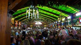 The Augustiner tent at Wiesn. One of the most popular Oktoberfest beer tents with the Stock Photography