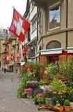 Augustinergasse-Straße in Lindenhof-Viertel zürich switzerland lizenzfreie stockbilder