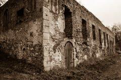 Augustinian修道院废墟 库存图片
