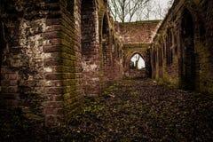 Augustinian修道院废墟 免版税图库摄影