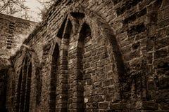 Augustinian修道院废墟 库存照片