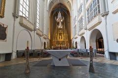 Augustinian教会内部Augustinerkirche在维也纳 图库摄影