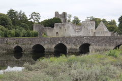 Augustinian Abbey Adare Limerick Ireland view with a bridge. Over the river Stock Images