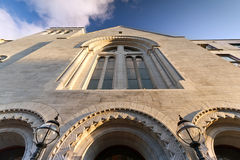 Augustinian church architecture. At sunset, Limerick, Ireland Stock Image