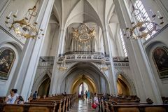 Augustinian Church in Vienna, Austria. The Augustinian Church German: Augustinerkirche in Vienna is a parish church located on Josefsplatz, next to the Hofburg Royalty Free Stock Photos