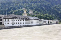 Augustinian Museum Rattenberg and Inn river, Austr Stock Photography
