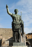 Augusto. Ancient roman statue of emperor augustus Stock Images