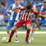 Augusto Fernandez of Atletico Madrid. During a Spanish League match against RCD Espanyol at the Power8 stadium on April 9, 2016 in Barcelona, Spain Stock Photo
