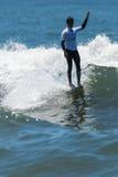 Augusto Olinto BRA. GAIA, PORTUGAL - JUNE 11: Augusto Olinto (BRA) at LQS Longboard Pro Gaia Men's Longboard Tour #3 Royalty Free Stock Images