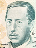 Augusto Ruschi portrait. From Brazilian money Royalty Free Stock Images
