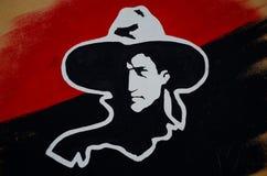 Augusto Sandino mural. A mural of Augusto Sandino in Ometepe, Nicaragua Stock Photography