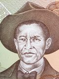 Augusto Sandino portrait. From Nicaraguan money Royalty Free Stock Images