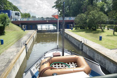 Augustow Kanal Lizenzfreies Stockbild