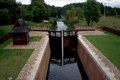 Augustow kanal i Polen royaltyfria foton