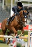 Augustsson nell'azione monta il cavallo Mic Mac Du Tillar Fotografie Stock