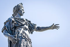 Augustus. Famous statue of augustus in augsburg royalty free stock photography
