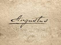 Augustus Royalty-vrije Stock Foto's