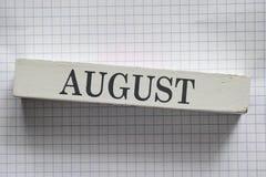 augustus Royalty-vrije Stock Fotografie