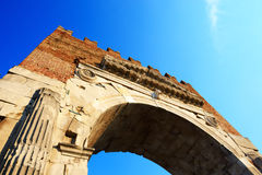 The Augustus Arch in Rimini city Stock Images