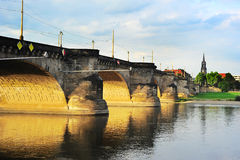 Augustus Bridge in Dresden Royalty Free Stock Images