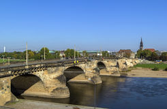 Augustus Bridge, Dresden, Germany Royalty Free Stock Photos
