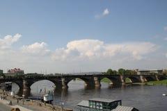 Augustus Bridge en Dresden fotos de archivo libres de regalías