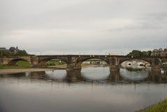 Augustus bro, Dresden, Tyskland Arkivbilder