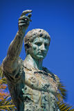 Augustus Caesar. Statue of Augustus Caesar close-up against blue sky royalty free stock photography