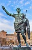 Augustus Caesar Statue Trajan Market Rome Italia fotografie stock libere da diritti