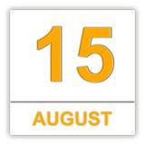15 augustus Dag op de kalender Stock Foto's