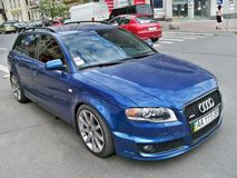 25 augustus, 2010 De Oekraïne - Kiev Avant Audi RS4 stock fotografie