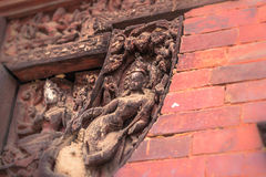 18 augustus, 2014 - Details van Hindoese tempel in Patan, Nepal Royalty-vrije Stock Fotografie