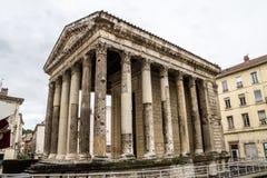 Augustus en de tempel van Livia in Wenen royalty-vrije stock foto's