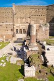 The Augustus Forum (Foro di Augusto) near the Roman Forum in Rom. E, Italy Royalty Free Stock Images