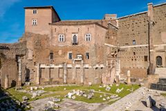 The Augustus Forum (Foro di Augusto) near the Roman Forum in Rom. E, Italy Royalty Free Stock Image