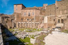 The Augustus Forum (Foro di Augusto) near the Roman Forum in Rom. E, Italy Stock Image