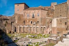 The Augustus Forum (Foro di Augusto) near the Roman Forum in Rom. E, Italy Stock Photos