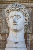 Augustus głowa - Watykański Rzym Obrazy Royalty Free