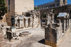 Augustus Gate in Nimes Stock Photography