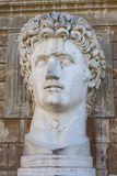 Augustus Head - Vatican Rome. The marbled head of a colossal statue of Augustus royalty free stock images